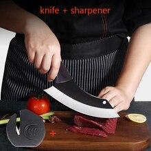 El yapımı şef bıçağı kaplı dövme çelik kemik dilimleme kasap mutfak bıçağı et Cleaver mutfak gereçleri