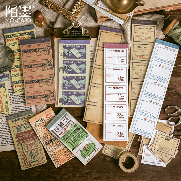 1set/1lot Memo Pads Sticky Notes Antique Notes Vintage Paper Old And Series Scrapbooking Stickers Office School Stationery