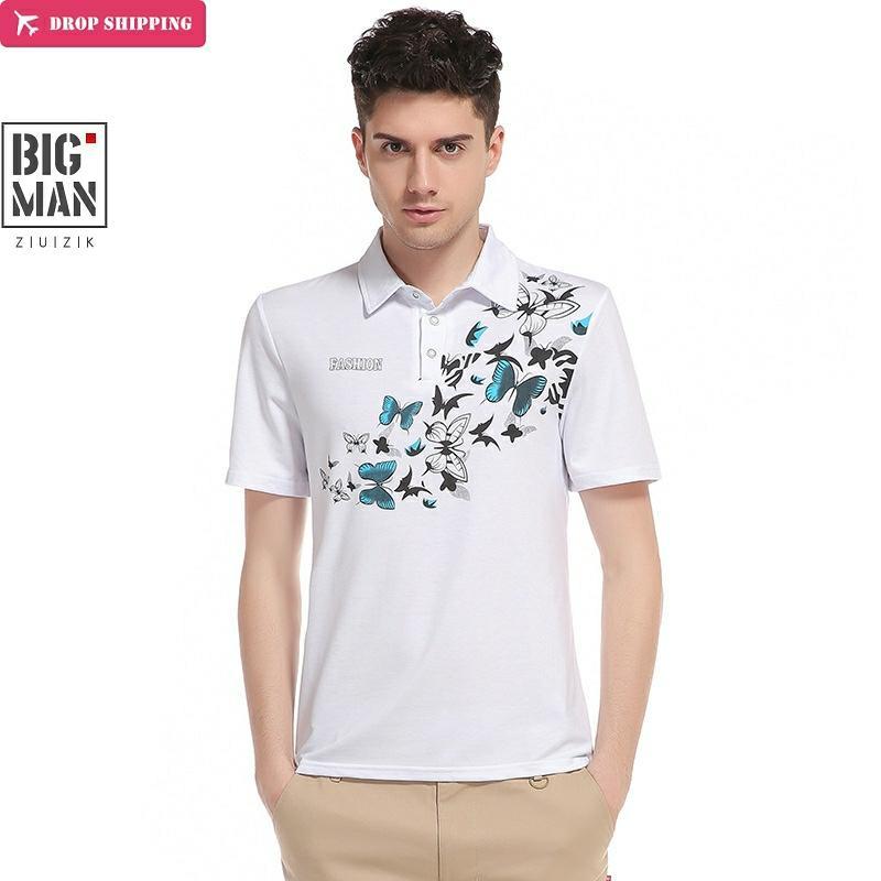 Vska Mens 2-Stripe Polo Shirt Fashion Short-Sleeve Silm Fit T-Shirt Top