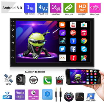 2 Din 7 Inches Android Universal Car Radio Multimedia Player Auto Radio GPS Navigation Stereo Bluetooth FM Players for 1995-2019 pumpkin 2 din 6 2 android 7 1 universal car dvd player gps navigation quad core car stereo fm rds radio wifi dab 3g headunit
