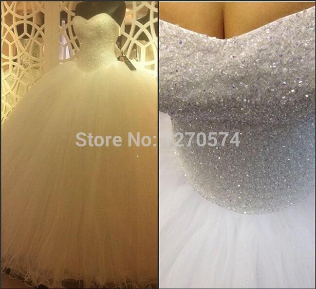 Custom-made Bandage Dress Ball Bridal Gown Crystal Vestido De Noiva 2016 New Fashionable Sexy Long Wedding Dress Free Shipping