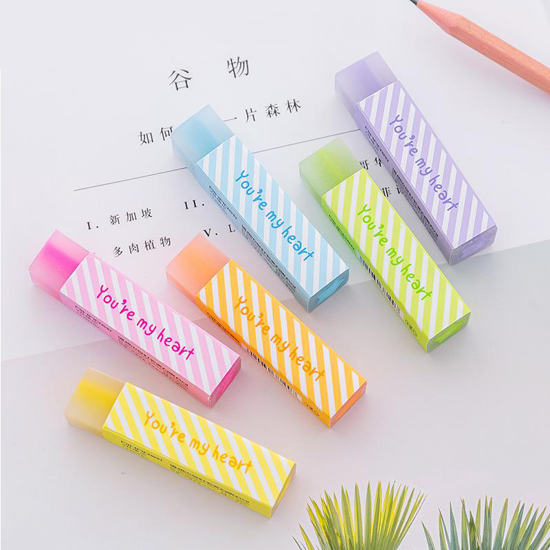 1 Pc Kawaii Colored Rubber Eraser Lovely Star Pencil Erasers For Kids Gift Correction Tool School Office Stationery Art Supplies