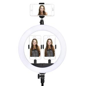 Image 5 - Fosoto Anillo de luz Led para SLP R300, 60W, 300 Uds., con trípode, iluminación fotográfica, para cámara, teléfono, maquillaje, Youtube