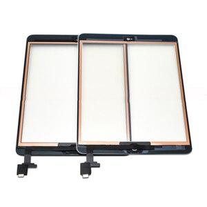 For iPad Mini 1 Mini 2 A1432 A1454 A1455 A1489 A1490 A149 glass Touch Screen Digitizer Sensor+IC Chip Connector Flex+Key Button(China)