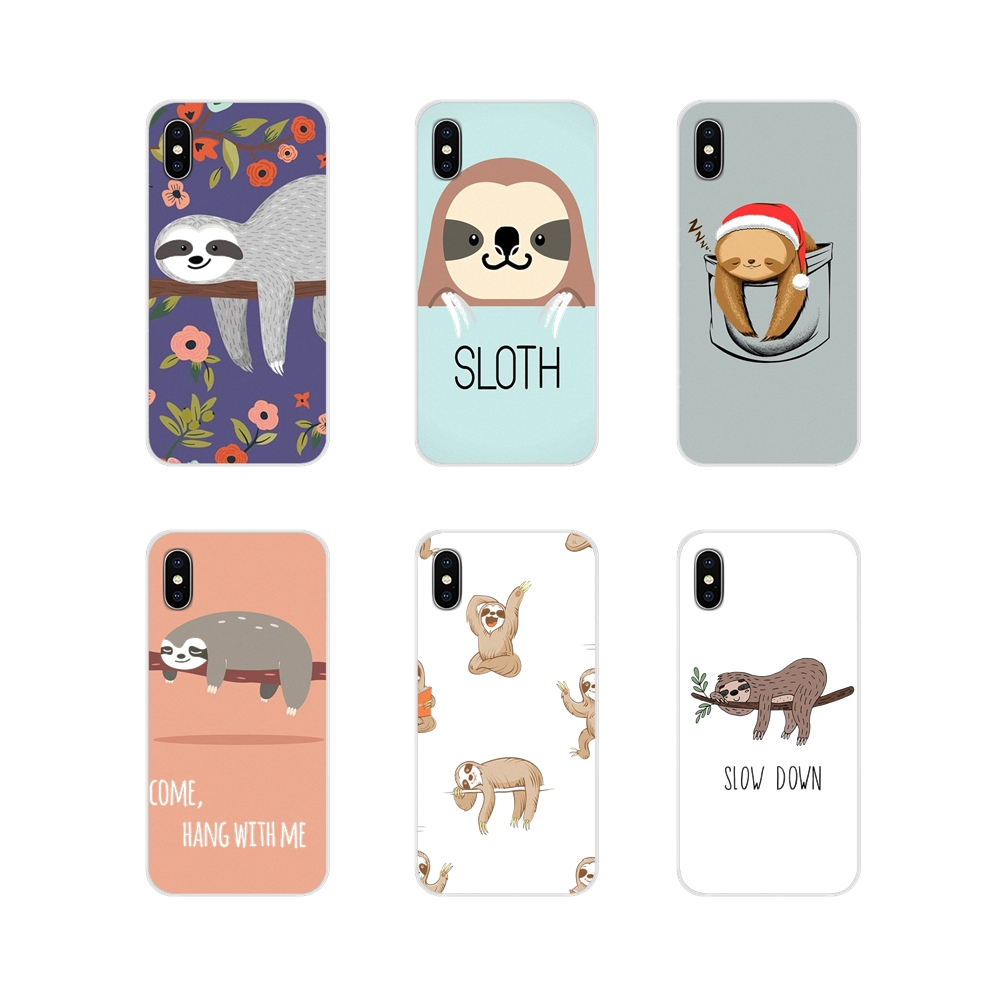 For Samsung A10 A30 A40 A50 A60 A70 M30 Galaxy Note 2 3 4 5 8 9 10 PLUS Accessories Phone Shell Covers Sloth Cute Animals