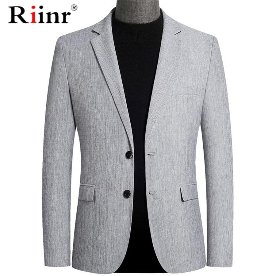 Riinr ブランド春秋のメンズブレザーファッションスリムスーツのジャケットの男性ビジネスカジュアル服高品質男性のスーツ男性 m-4XL