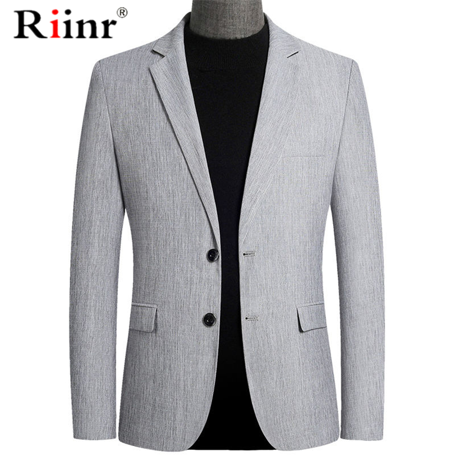 Riinr Brand Spring Autumn Men Blazer Fashion Slim Suit Jacket Men Business Casual Clothing High Quality Men's Suit Male M-4XL