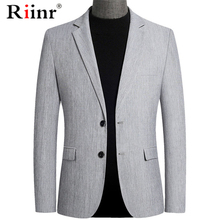 Riinr Brand Spring Autumn Men blazer Fashion Slim Suit jacket Men Business Casua