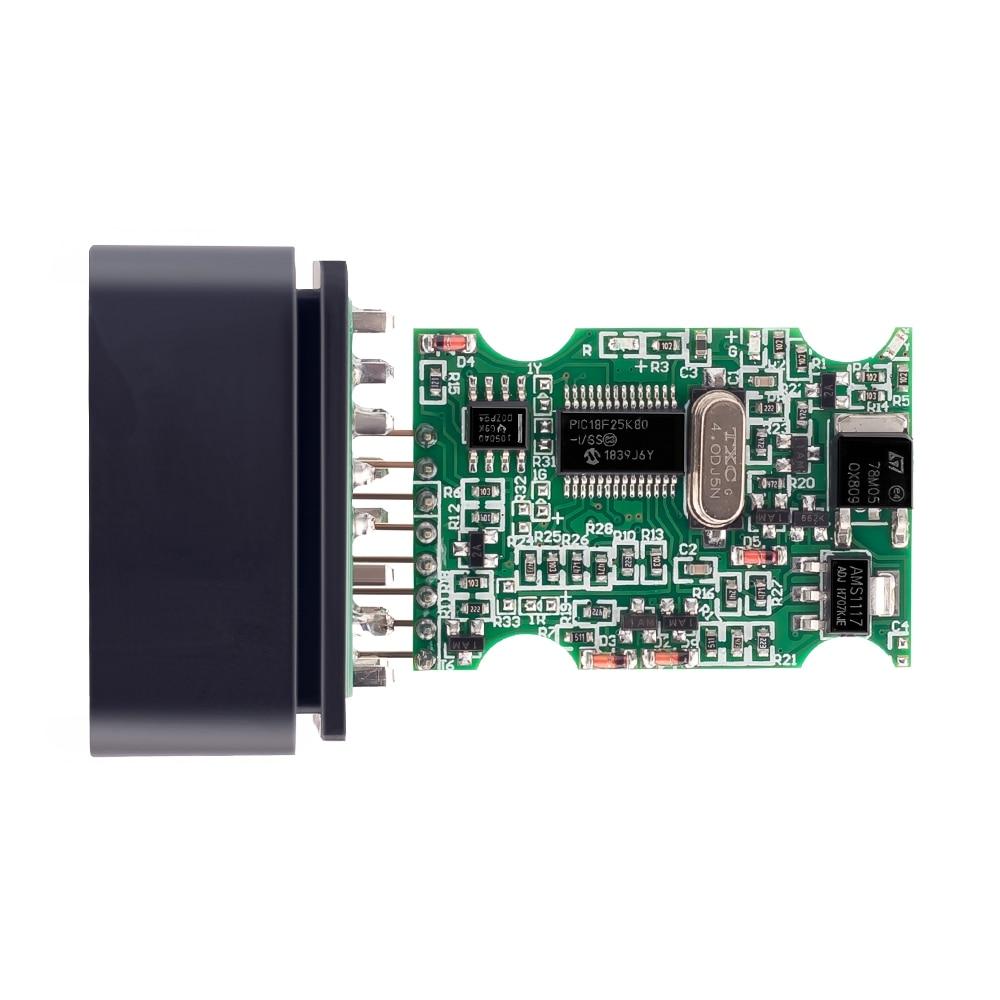 H5dcfc63e32194026bd4bdd7326ec3611U OBD2 ELM327 V1.5 Bluetooth/WIFI Car Diagnostic Tool ELM 327 OBD Code Reader Chip PIC18F25K80 Work Android/IOS/Windows 12V Car
