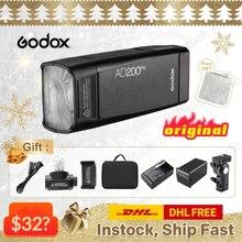 Godox – Kit de Flash de poche TTL AD200Pro, pour Canon, Nikon, accessoires de studio de photographie DSLR, youtube live