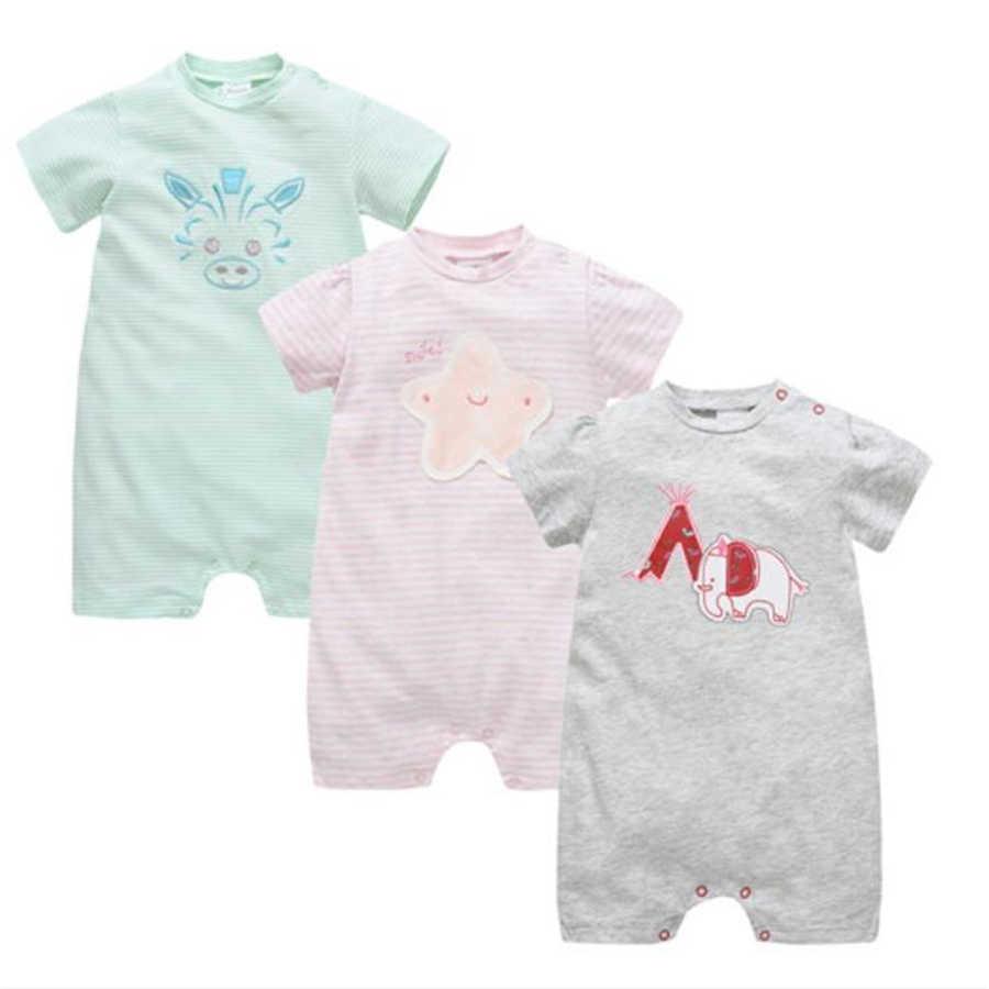 100% хлопковые комбинезоны для маленьких мальчиков, пижамы-боди для детей от 0 до 12 месяцев, комбинезоны в полоску с героями мультфильмов, комбинезон для новорожденных, мягкие комбинезоны для сна