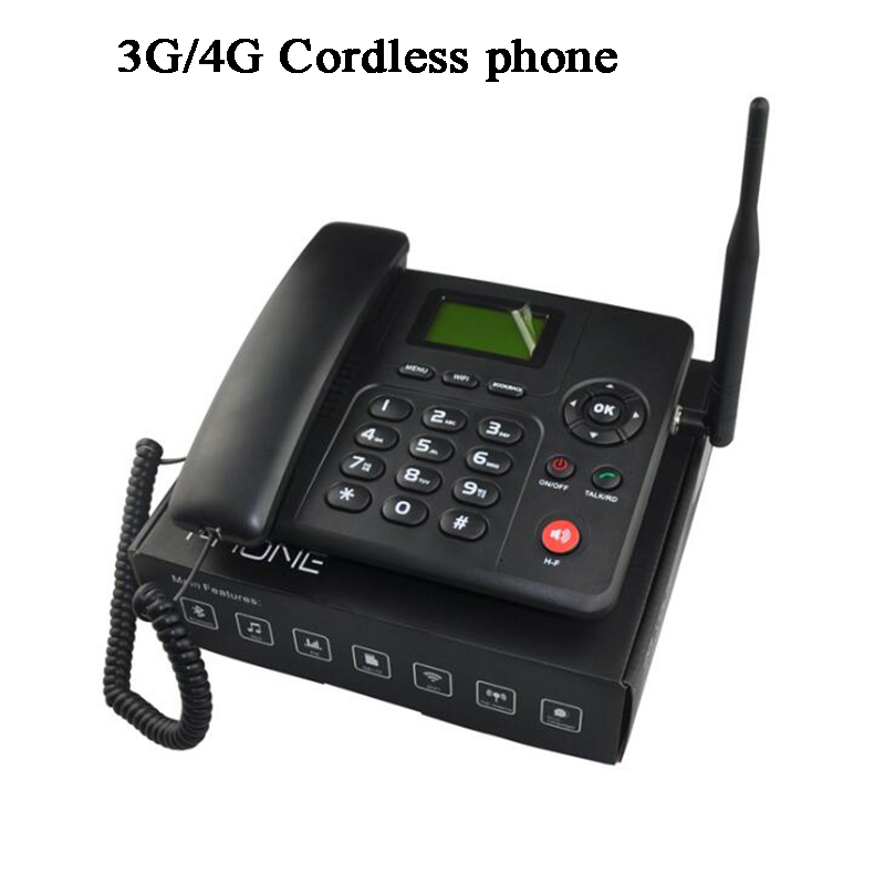 4G 3G FDD WCDMA GSM1 Sim Card Fixed Wireless Phone Cordless Phone FWP Lansline Dial Payphone SMS Call In/out Telemarketing Alarm