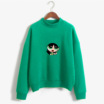 2019 Harajuku Women Sweatshirt Kawaii Buttercup Hoodie Girls Fashion Sweatshirt Hip-Hop cute Girls Pullover Album Sweatshirt фото