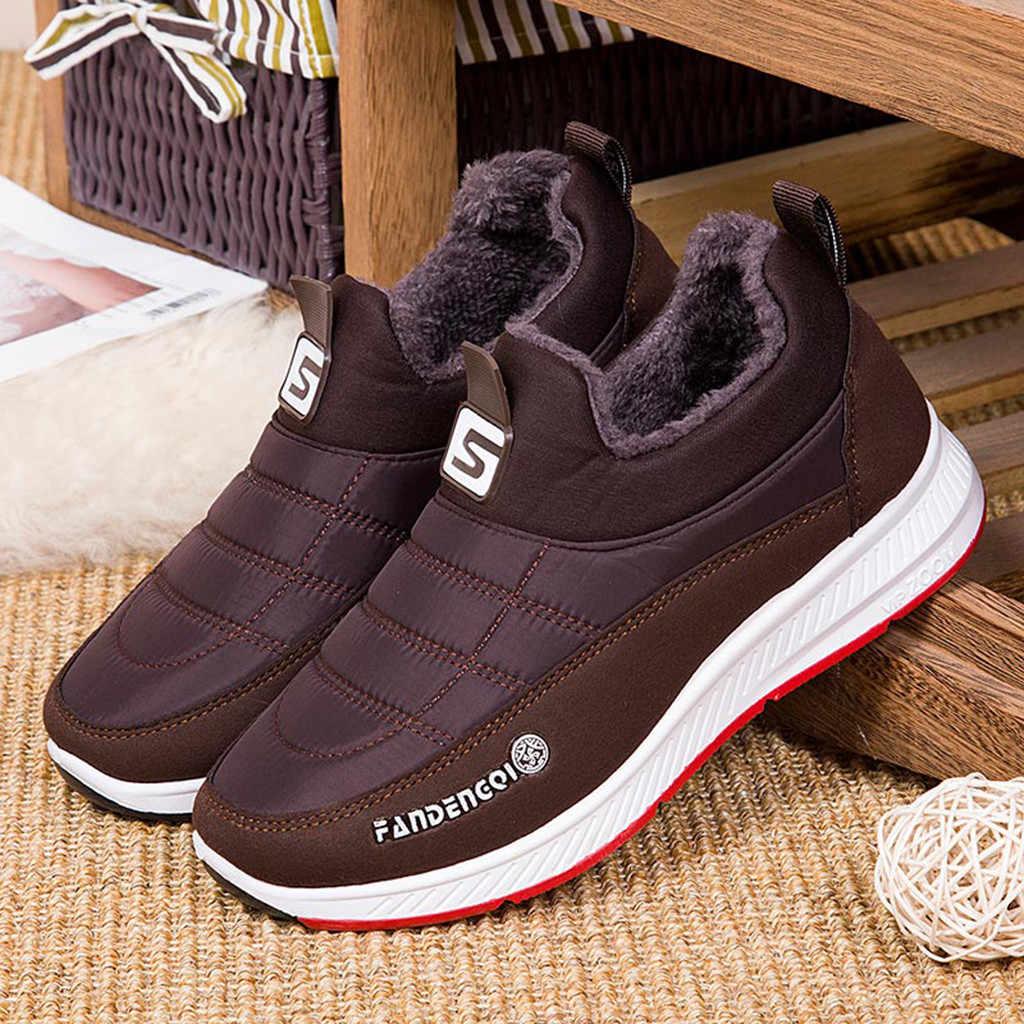 Erkek botları su geçirmez kış ayakkabı erkekler boyutu tutmak sıcak kar botları kış Botas Hombre rahat severler yarım çizmeler erkekler patik