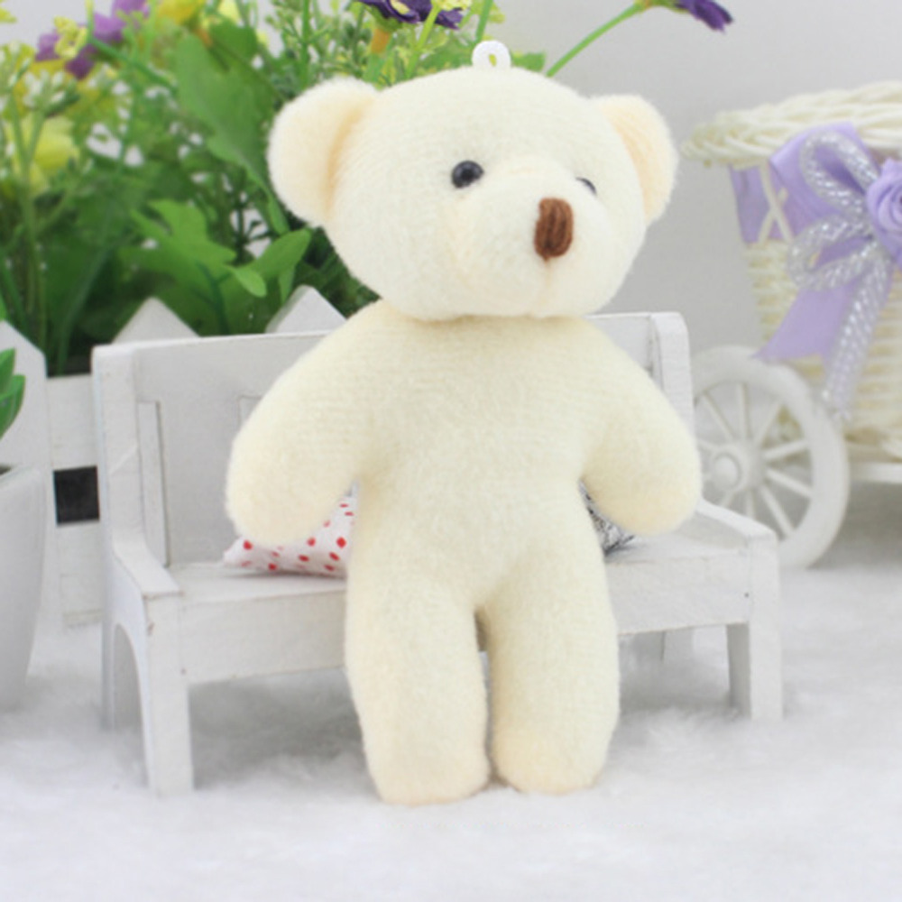 Cute Baby Soft Plush DIY Bear Dolls Christmas Gifts Bear Dolls Toys For Children 11cm Lovely Stuffed Animal Toys