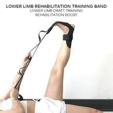 Yoga flexibilidade alongamento perna maca cinta para ballet cheer dança ginástica treinador yoga flexibilidade perna cinto de estiramento