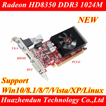 NEW Radeon HD8350 1024MB DDR3 PCI-E Video card Real 1G graphics card Supports Win7 XP VGA HDMI DVI 1pcs image
