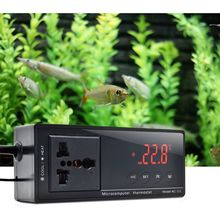 10A AC-112 Outlet Thermostat Digital Temperature Controller Aquarium Heater Accessories with Waterproof Sensor 600w infrared space heater panel room heater with wireless sensor thermostat