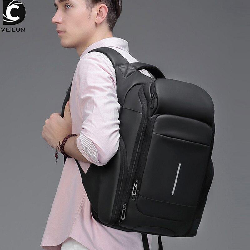 Большой Вместительный мужской рюкзак для путешествий 15,6 дюймов, сумки для ноутбуков, многослойные космические рюкзаки, водоотталкивающие ...