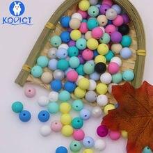 Kovict – perles de Dentition en Silicone pour bébé, 100/200/500/1000 pièces, 12mm, rondes, pour la fabrication de bijoux, produits pour bébés