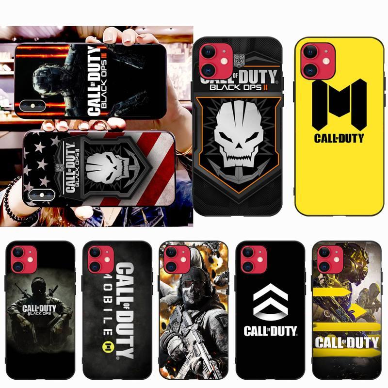 Мягкий силиконовый чехол для телефона NBDRUICAI с вызовом из игры для iPhone 11 pro XS MAX 8 7 6 6S Plus X 5S SE XR