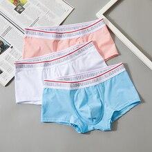 3Pcs / Lot Men 's Boxer Shorts Soft Cotton Student Low-Rise Large U Convex Comfortable Men's Underwear Plus Size Underpants