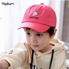 Hepburn Brand Fruit pattern Kids Boy Girl Casquette Snapback Sun Hats Adjustable Baseball Cap 2-7 years old Hip Hop Hat