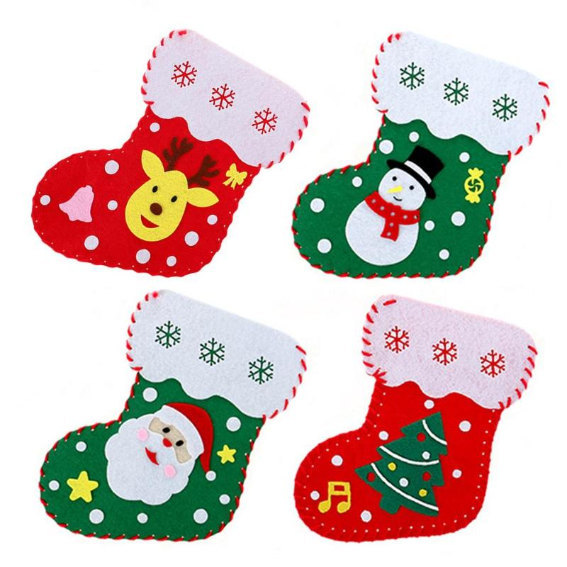 Candy Stocks Bags Personality Especially Creative Added Interest DIY Manual Children Toys Christmas Decorations Gift