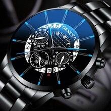 2019 nuevo reloj de cuarzo de oro de moda de acero inoxidable de marca superior, relojes para hombres, reloj impermeable de lujo, reloj Masculino