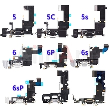 Bottom USB Charger Port Connector Flex For iPhone 5 5s 5c SE 6 6s Plus Dock Charging Flex Cable Replacement cheap AiinAnt RoHS CN(Origin) Apple iPhones USB Charging Dock