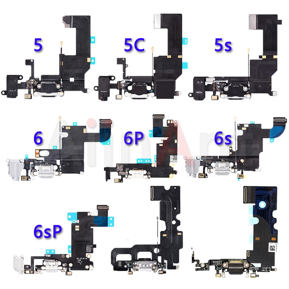 Bottom USB Charger Port Connector Flex For IPhone 5 5s 5c SE 6 6s Plus Dock Charging Flex Cable Replacement