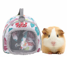 Traspirante Piccola Gabbia Dell'animale Domestico di Estate Outdoor Carrier per Cavia Porcellus Criceto Hedgehog Portatile Della Chiusura Lampo Del Sacchetto Mini Animali Domestici Borsa(China)