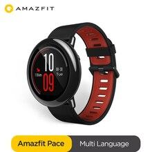 Оригинальные Смарт часы Amazfit Pace Amazfit, Смарт часы с Bluetooth, GPS, информацией, пульсометром, интеллектуальным монитором