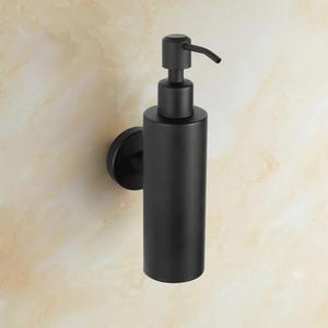 Image 2 - 200 ミリリットル壁マウントパンプスステンレス鋼ローションポンプホーム浴室黒コーティングされたボストンラウンドソープディスペンサー浴室付属品