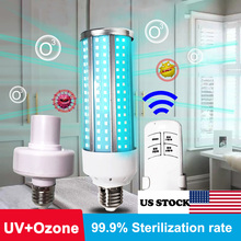 60W Germicidal Light Lamp LED Corn Bulb T5 Tube UVC Sterilizer Kill Dust Mite Eliminator UV quartz lamp For Bedroom /Hospital