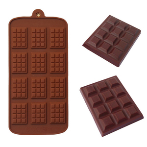 Силиконовая форма 12 даже форма для шоколадного фондана формы DIY конфеты бар Плесень Торт украшения инструменты кухня выпечки аксессуары