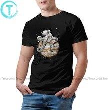 Polvo t camisa celestes cefalópodes t-camisa impressa mais tamanho camiseta moda homem 100 algodão incrível tshirt