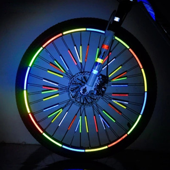 Mountain Bike Bicycle Wheel Rim Reflective Stickers Decals Protector Safety MTB Reflector