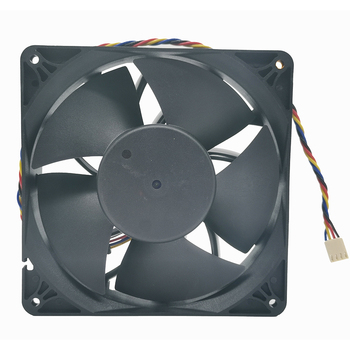 Powerful new 6Pin 4Pin fan 140mm 14038 140X140X38MMM DC 12V 4800RPM For E9+ E10 bitcoin miner cooling fan replace PFM1412DE