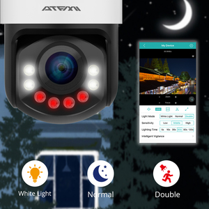 Image 2 - ATFMI واي فاي 1080P PTZ IP كاميرا 4X التكبير كاميرا شبكة مراقبة كامل اللون للرؤية الليلية H265 2MP مقاوم للماء IP66 IR 60m PTZ 1920X1080