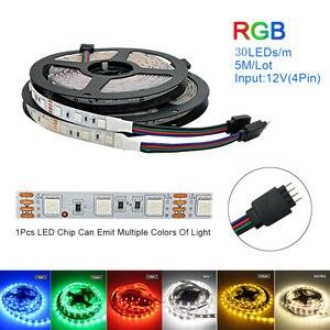 Image 3 - Bande lumineuse RGB 5050 + prise adaptateur, ruban déclairage Flexible 10m, 30 diodes, 12V, 40 touches, contrôleur musical