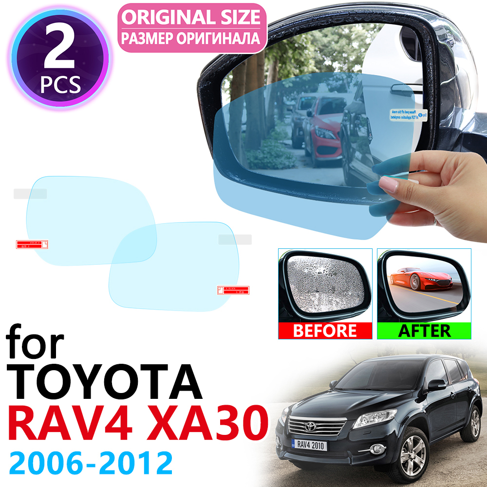 for Toyota Rav4 XA30 <font><b>RAV</b></font> <font><b>4</b></font> 30 2006~2012 Full Cover Rearview Mirror Rainproof Anti Fog Film Accessories 2007 2008 2009 2010 <font><b>2011</b></font> image
