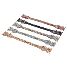 High Quality Wrist Strap Replacement For Fitbit Versa Metal Butterfly Rhinestone Stainless Steel Watch Accessories Watchband 1sh