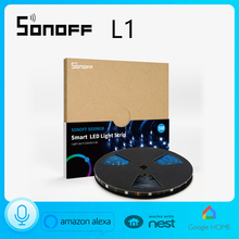 SONOFF L1 Smart WiFi LED Light Strip Dimmable Waterproof Flexible RGB Colorful Strip eWelink Remote Control Alexa Google Home