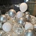10 шт 12 дюймов блестящие конфетти воздушные шары прозрачный Бумага конфетти из фольги Globos блестками и пайетками одежда для свадьбы, дня рожд...