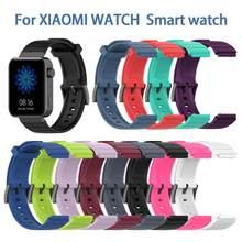 Para xiaomi relógio inteligente pulseira de relógio 18mm alta qualidade tpe substituição pulseira colorida banda pulso txtb1