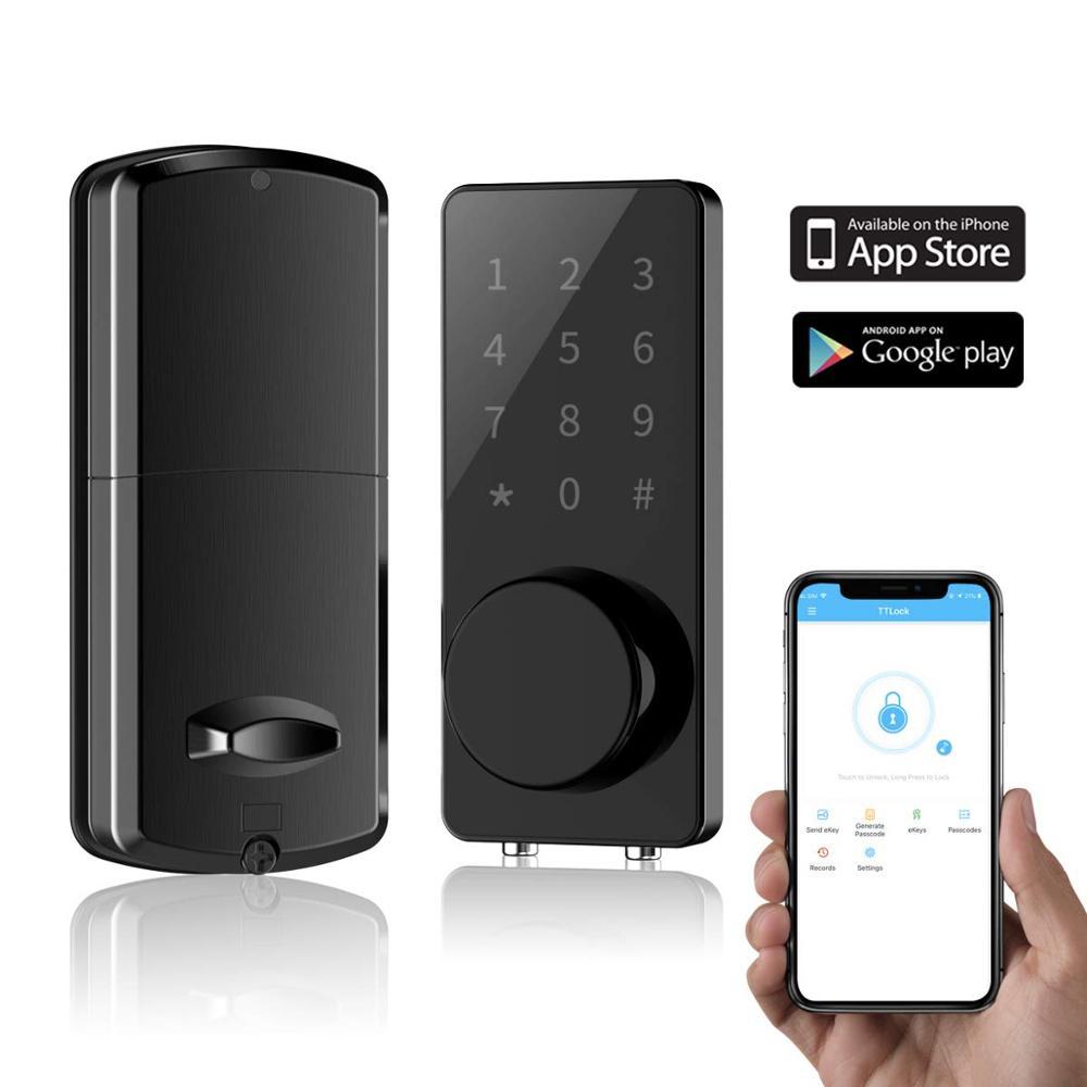 Bloqueio inteligente fechadura da porta de entrada keyless deadbolt eletrônico digital bluetooth fechadura da porta com teclado bloqueio automático casa bloqueio da tela de toque