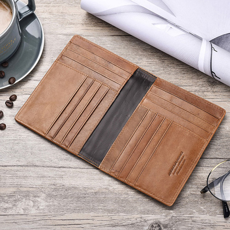 Genuine Leather Travel Passport Holder Passport Cover Driving License Document Wallet