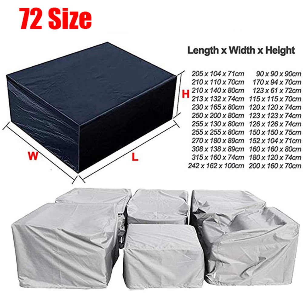 11 Sizes Garden Patio Protector Rain Square Dust Covers Outdoor