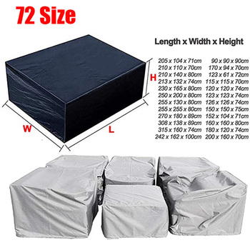 Patio Furniture Covers, Extra Large Outdoor Furniture Set Covers Waterproof, Rain Snow Dust Wind-Proof,Anti-UV,Fits for 12 Seats image